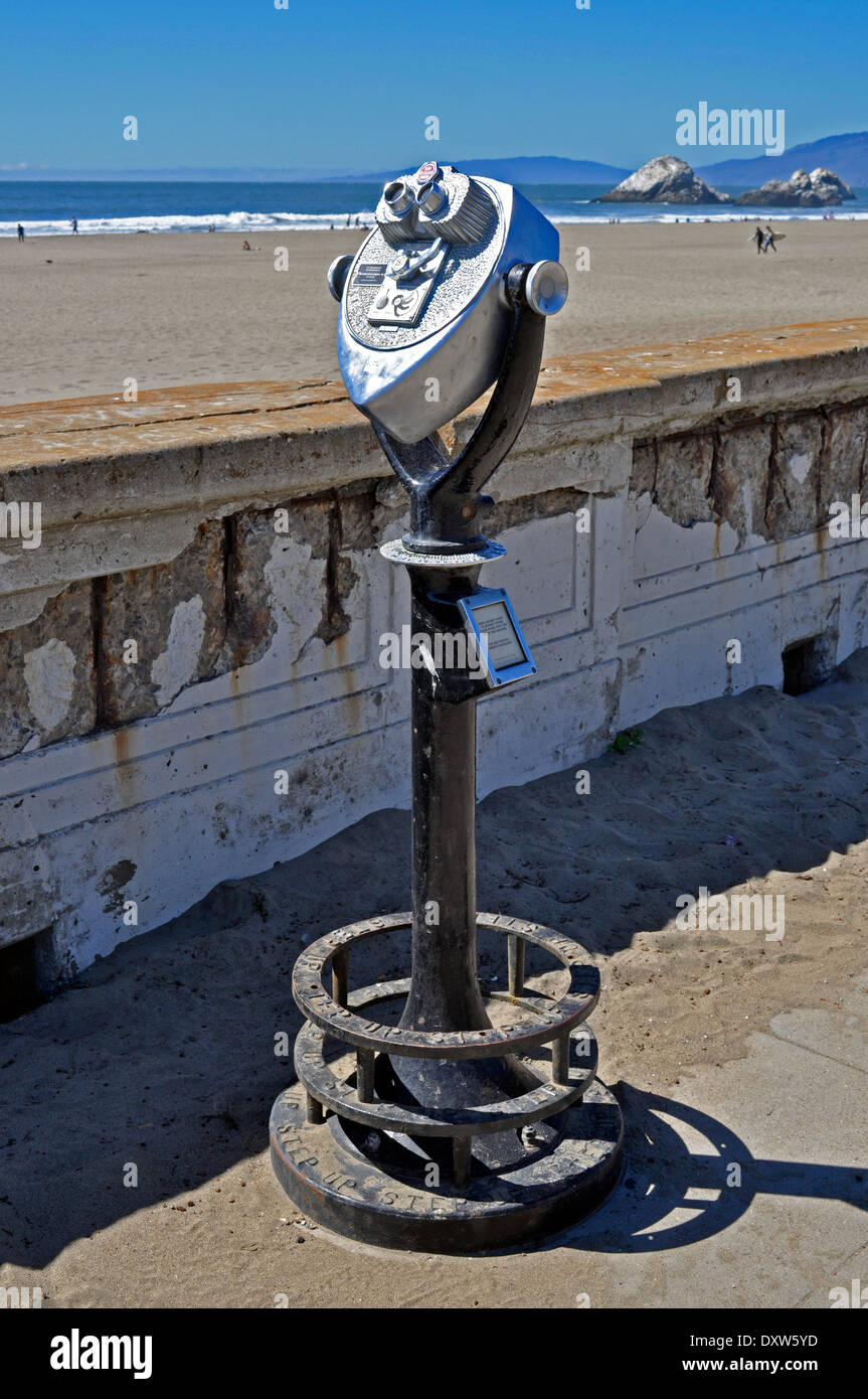 Tower Viewer, Ocean Beach, San Francisco - Stock Image