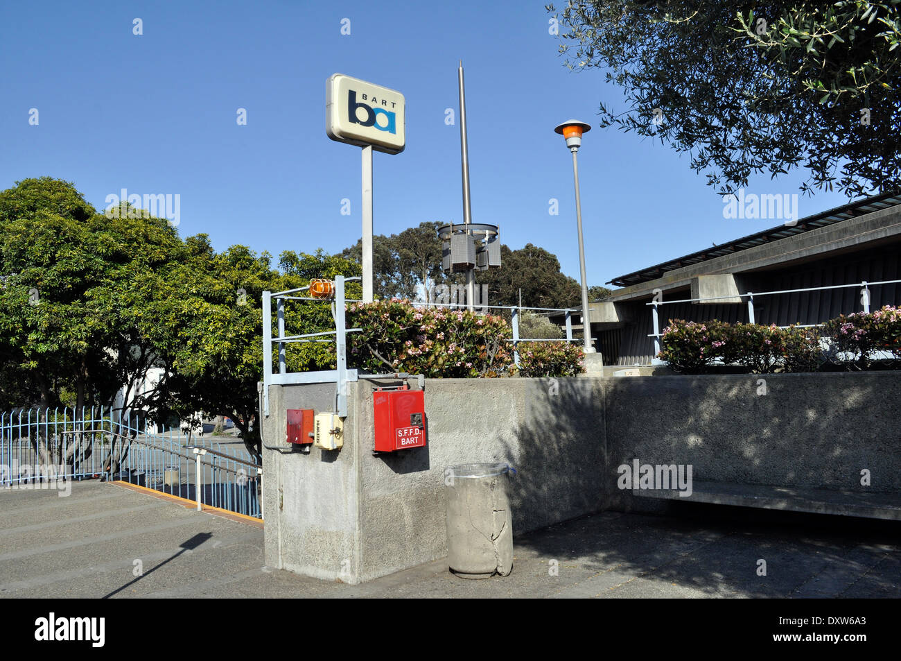 Glen Park BART station - Stock Image