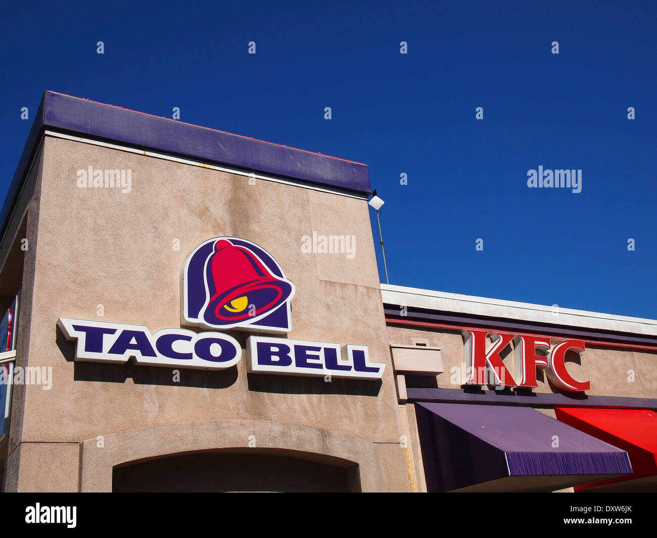 KFC Taco Bell fast food restaurant San Francisco - Stock Image
