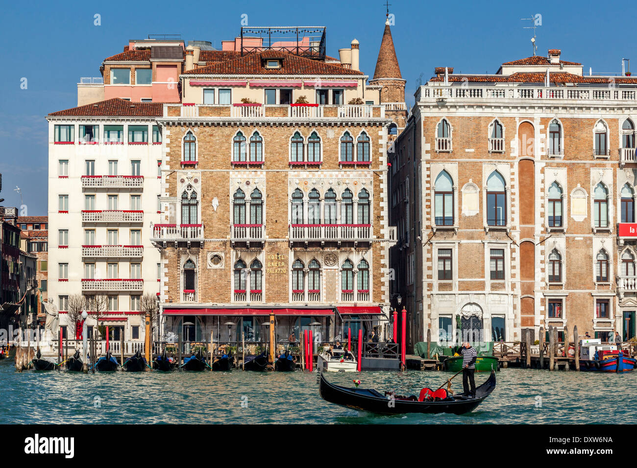 Hotel Bauer Palazzo The Grand Canal Venice Italy Stock Photo