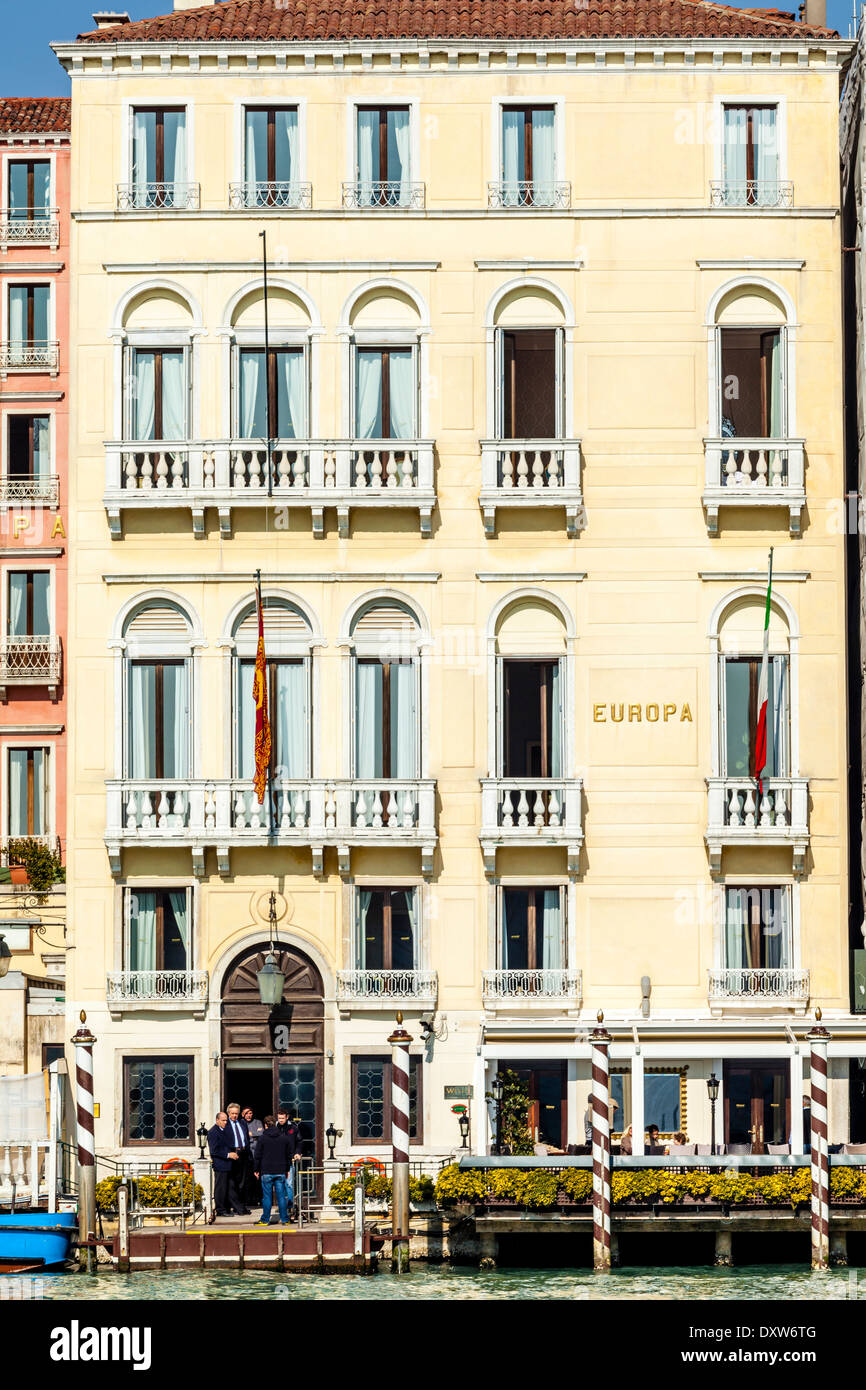 The Europa Hotel, The Grand Canal, Venice, Italy - Stock Image
