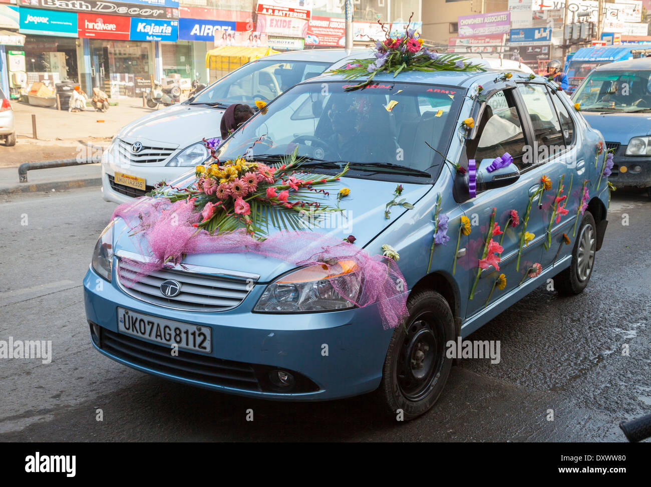 Decorated Car Flowers Indian Wedding Stock Photos Decorated Car