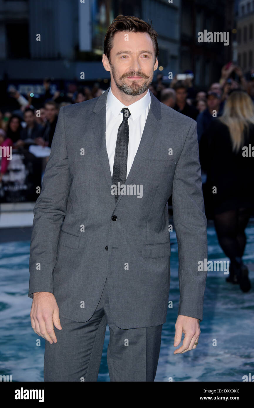 Hugh Jackman arrives for the UK Premiere of Noah. - Stock Image