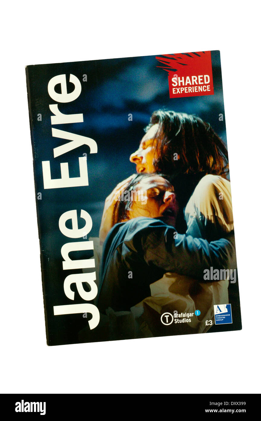 Programme for 2006 Shared Experience production of Jane Eyre by Charlotte Bronte, adapted by Polly Teale, at Trafalgar Studios. - Stock Image