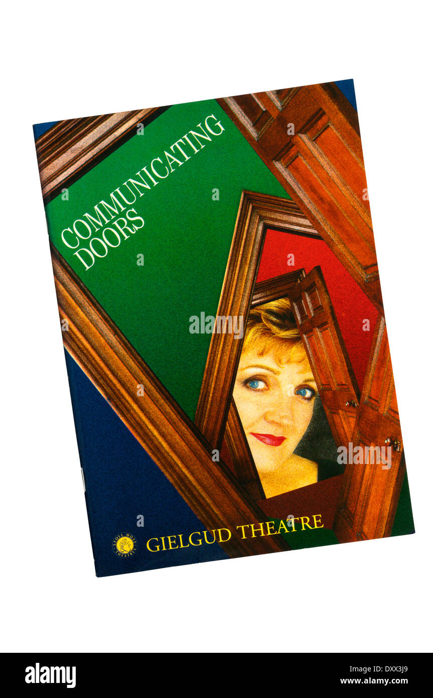 Programme for the 1995 production of Communicating Doors by Alan Ayckbourn, at the Gielgud Theatre. - Stock Image