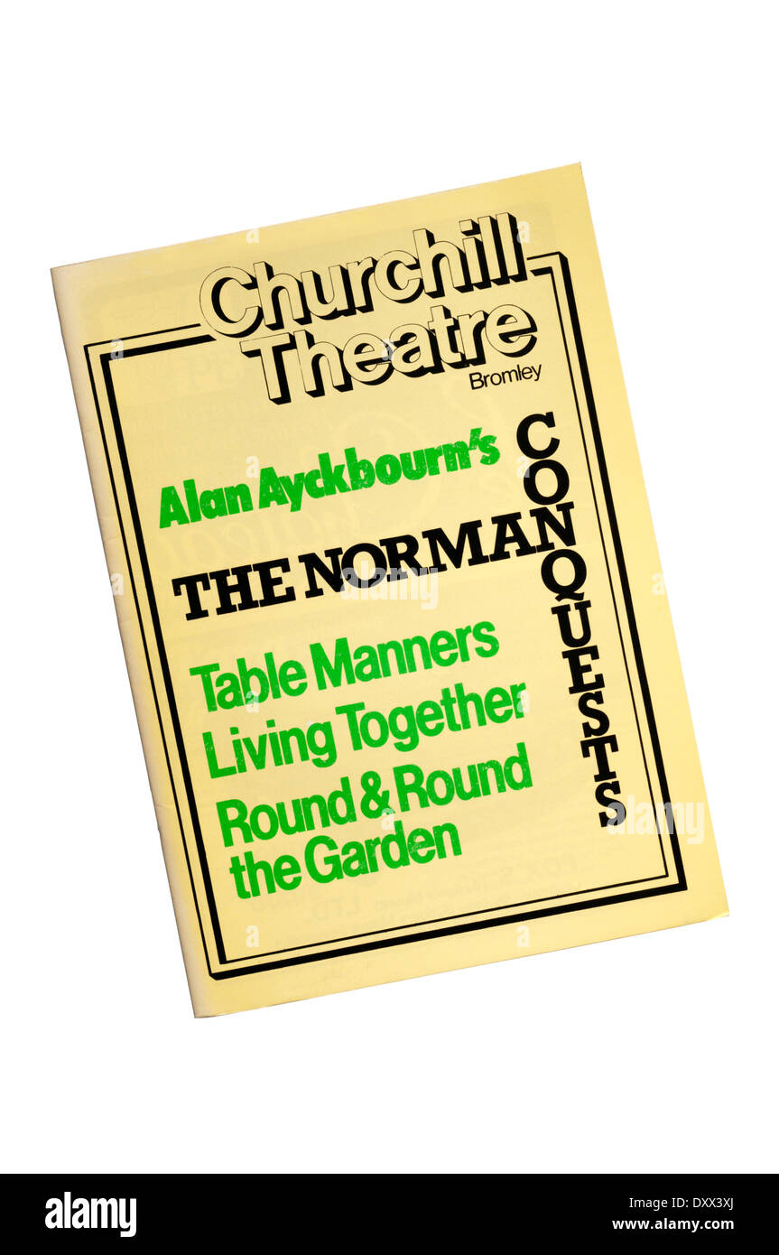 Programme for the 1979 production of The Norman Conquests by Alan Ayckbourn at the Churchill Theatre, Bromley. - Stock Image