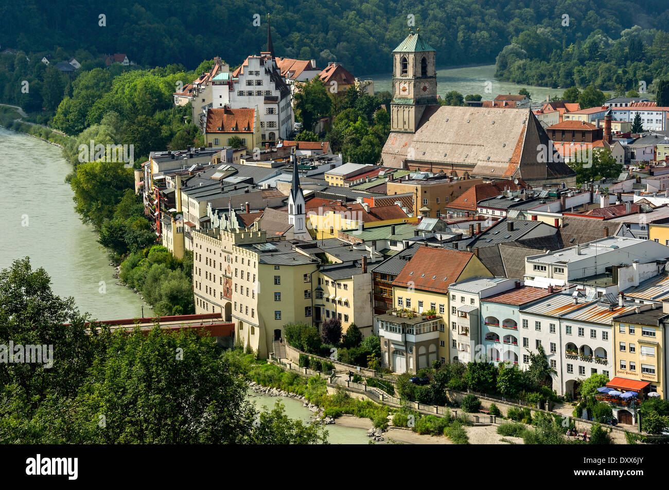 Wasserburg Am Inn Germania townscape wasserburg am inn upper stock photos & townscape