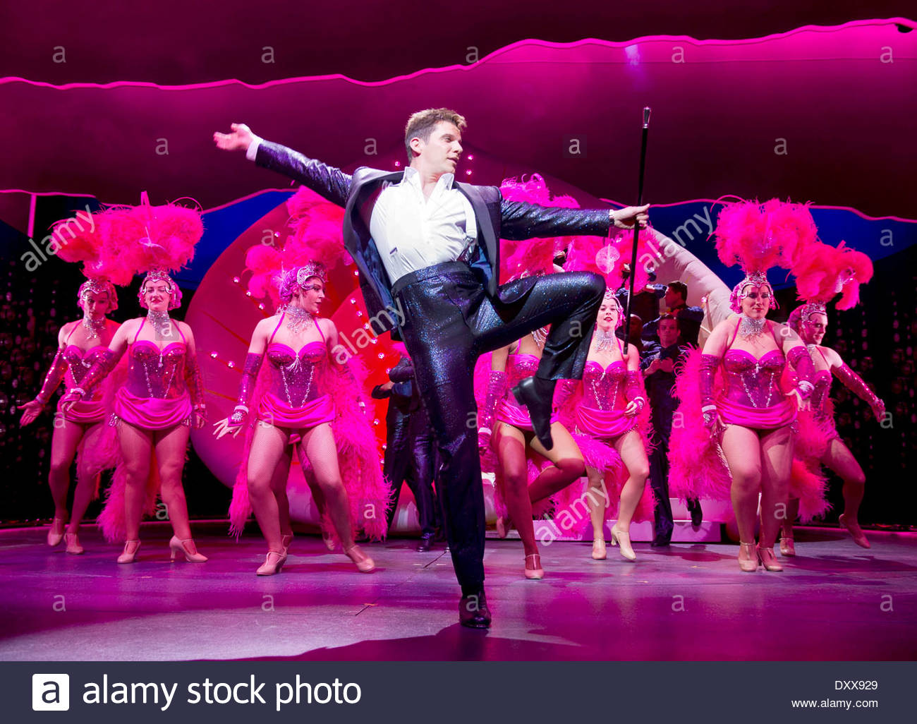 I Can't Sing ! by Harry Hill and Steve Brown, directed by Sean Foley. With Nigel Harman as Simon. Opens at The London Palladium on 26/3/14 - Stock Image