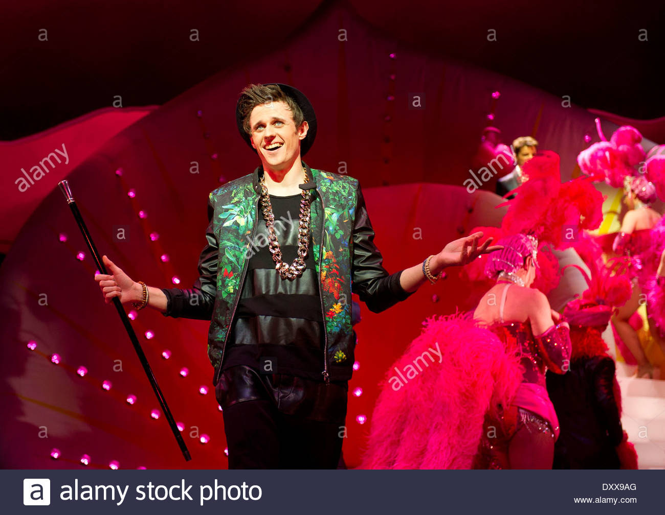 I Can't Sing ! by Harry Hill and Steve Brown, directed by Sean Foley. With Alex Morrissey as Max. Opens at The London Palladium on 26/3/14 - Stock Image