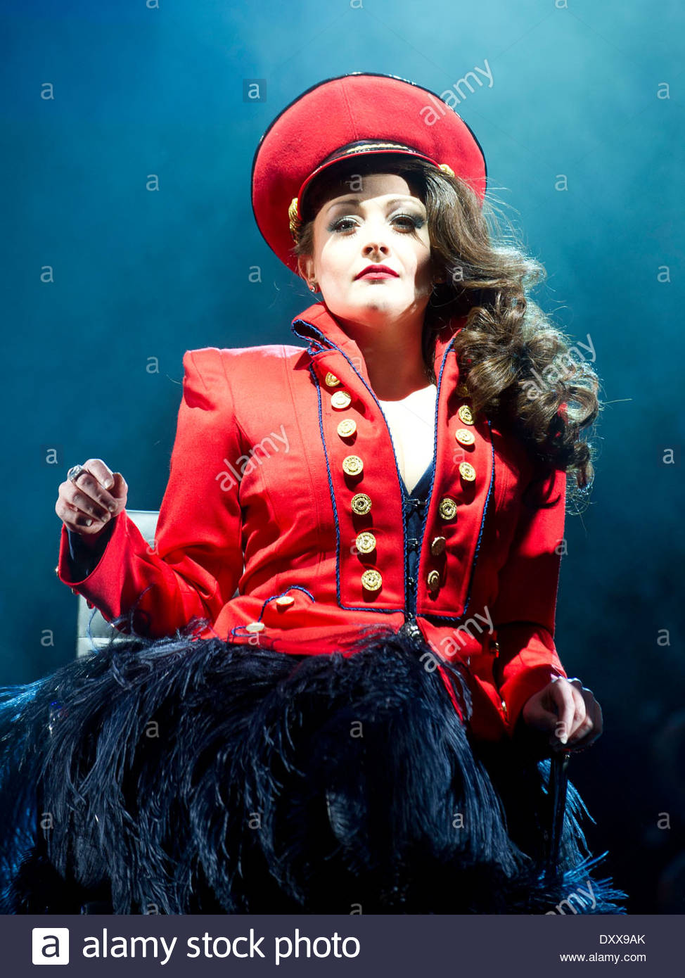 I Can't Sing ! by Harry Hill and Steve Brown, directed by Sean Foley. With , Victoria Elliott as Jordy. Opens at The London Palladium on 26/3/14 - Stock Image