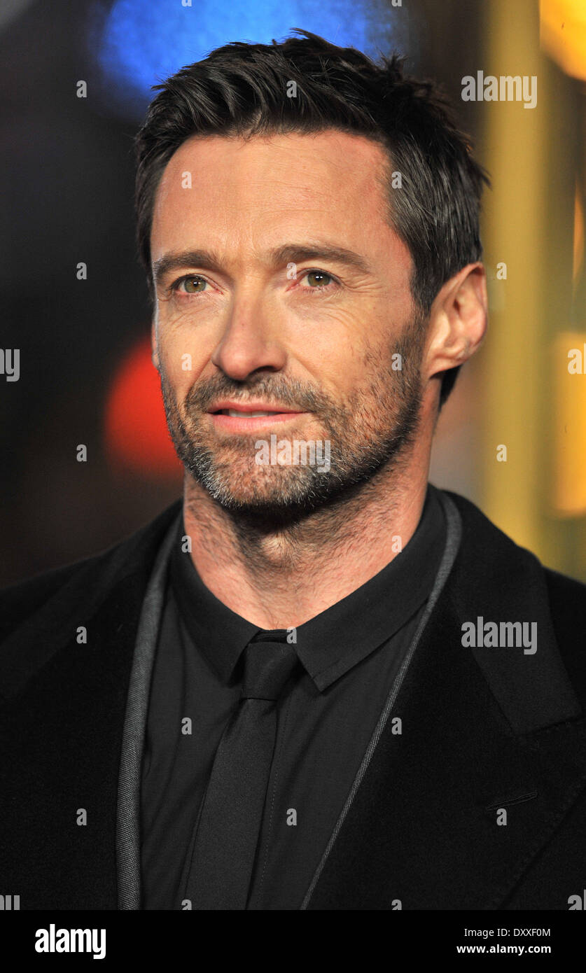 Hugh Jackman Les Miserables World Premiere held at the Odeon & Empire Leicester Square - Arrivals. London England - 05.12.12 Featuring: Hugh Jackman Where: London United Kingdom When: 05 Dec 2012 - Stock Image