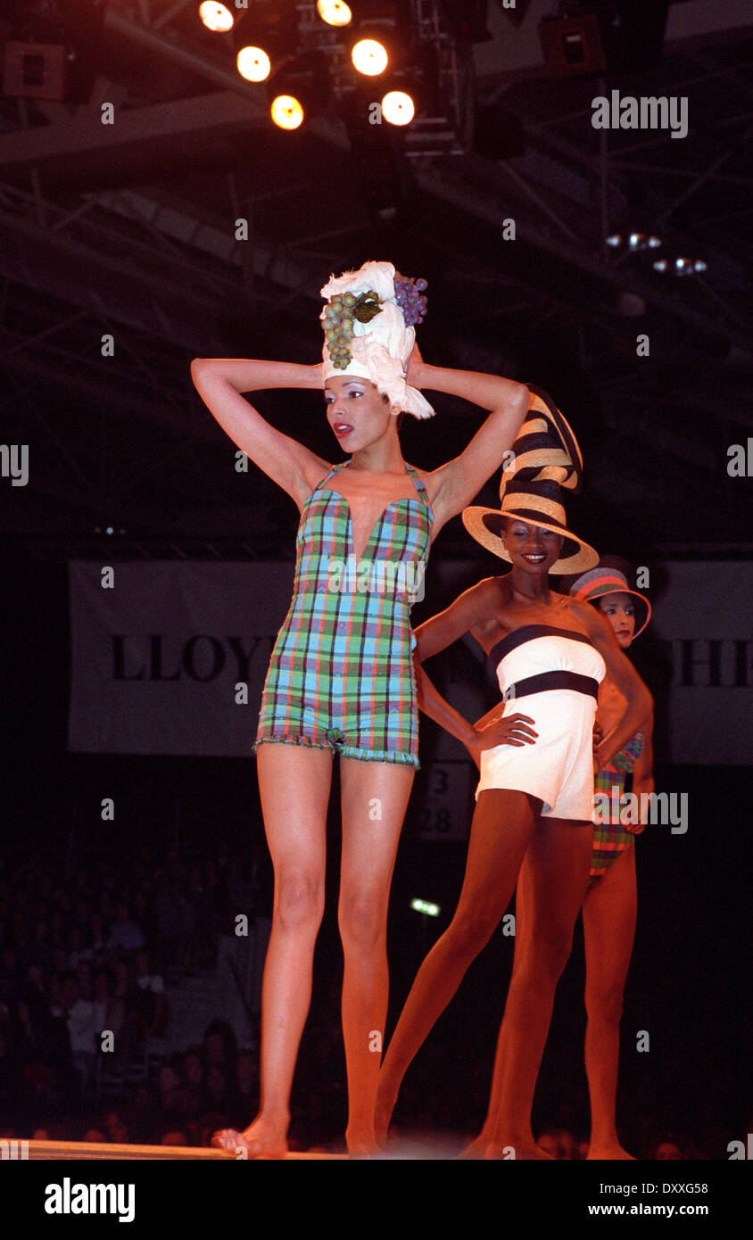 NEC Clothes Show ladies womens swimwear fashion catwalk 1994 - Stock Image