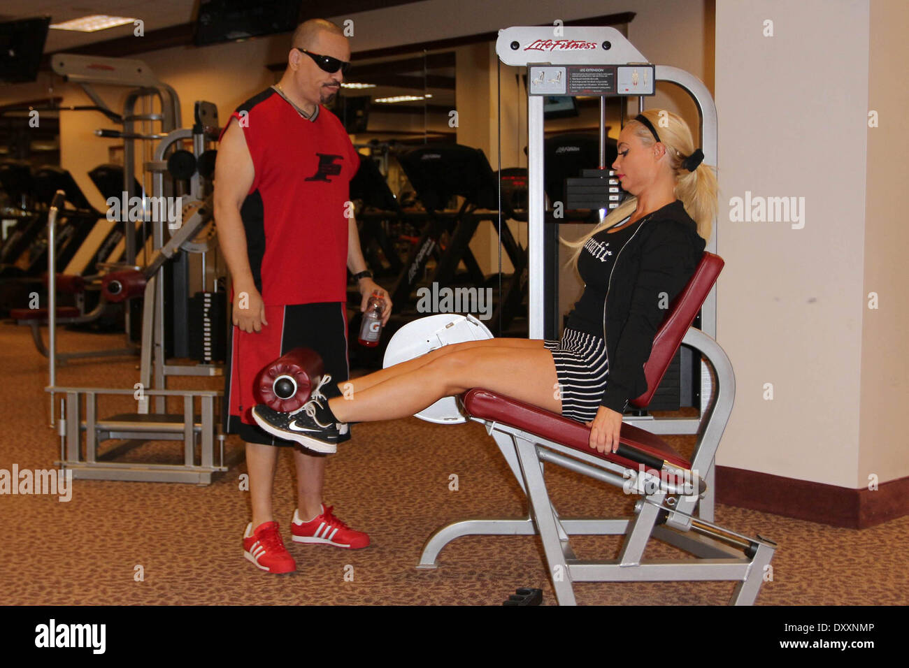 Ice T And His Wife Coco Seen Working Out At The Gym Las Vegas Nevada