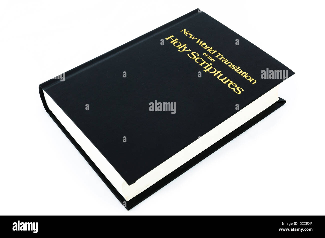 New World Translation of the Holy Scriptures as used by the Jehovas Witnesses - Stock Image