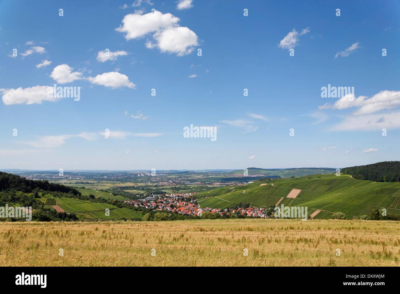 Germany, Baden-Württemberg, Strümpfelbach, viewpoint, Deutschland, Baden-Württemberg, Strümpfelbach, Aussichtspunkt - Stock Image