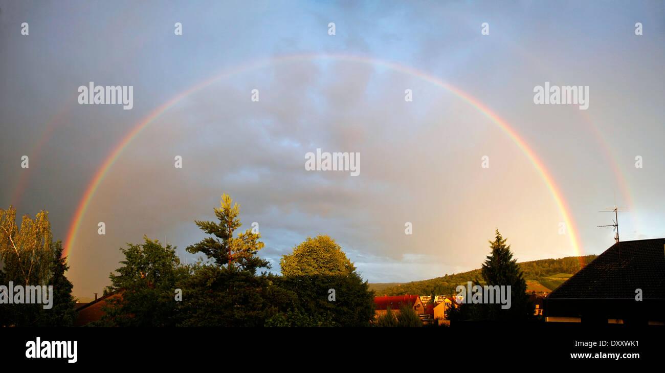 Germany, Baden-Württemberg, rainbow, Deutschland, Baden-Württemberg, Regenbogen - Stock Image