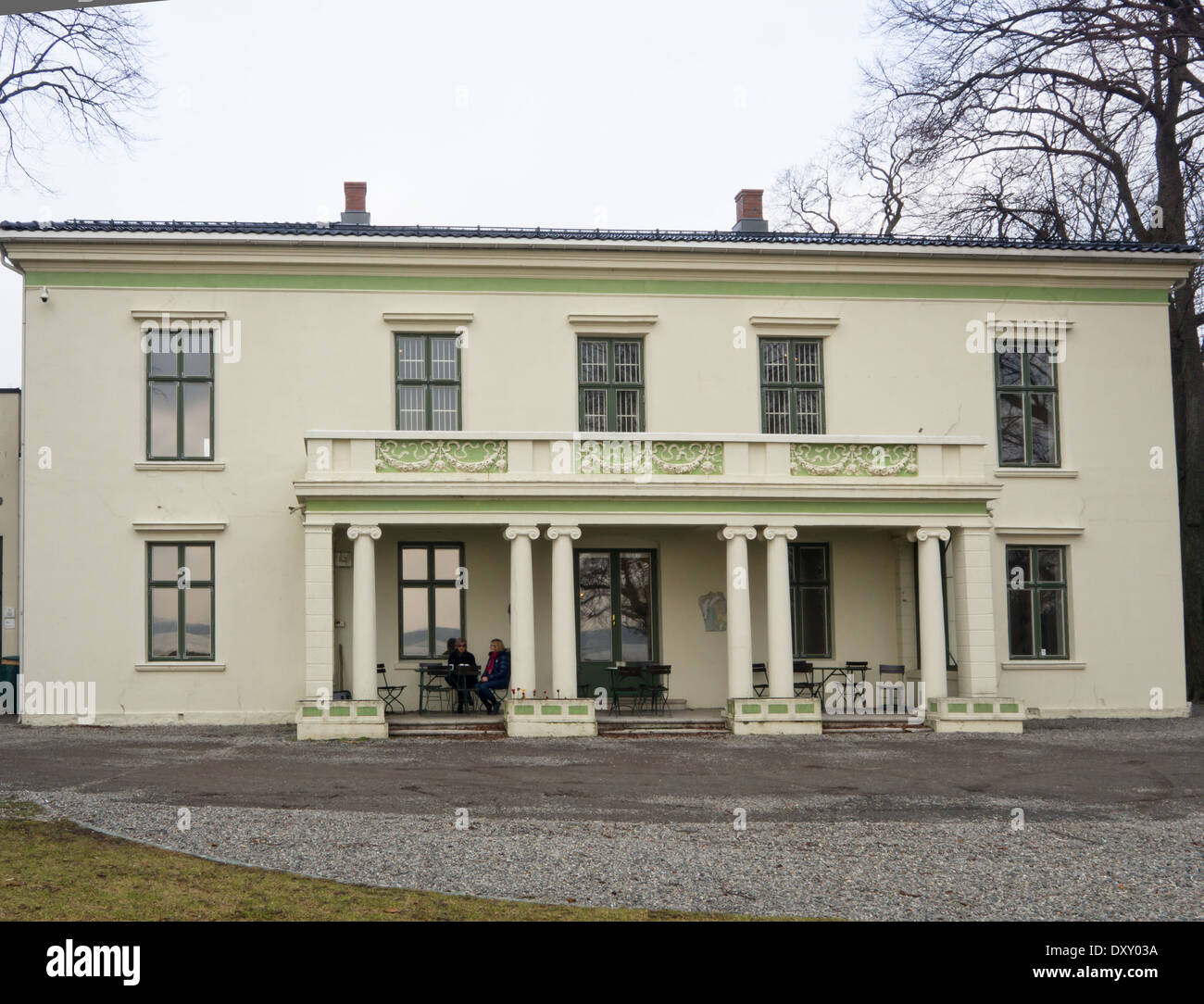 Galleri F 15, art gallery with exhibitions with contemporary artists in the former farm residence at Jeløya, Moss Norway - Stock Image