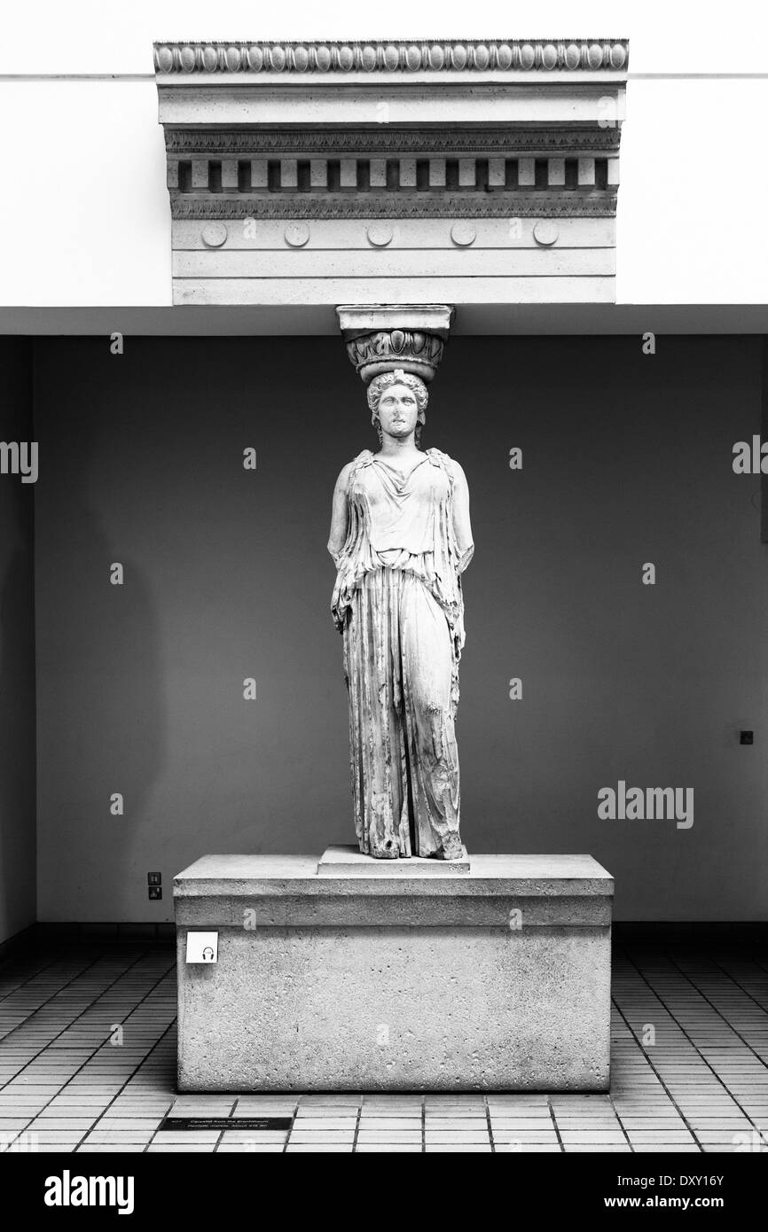 Caryatid from the Erechtheum. Pentelic marble, about 415 BC. - Stock Image