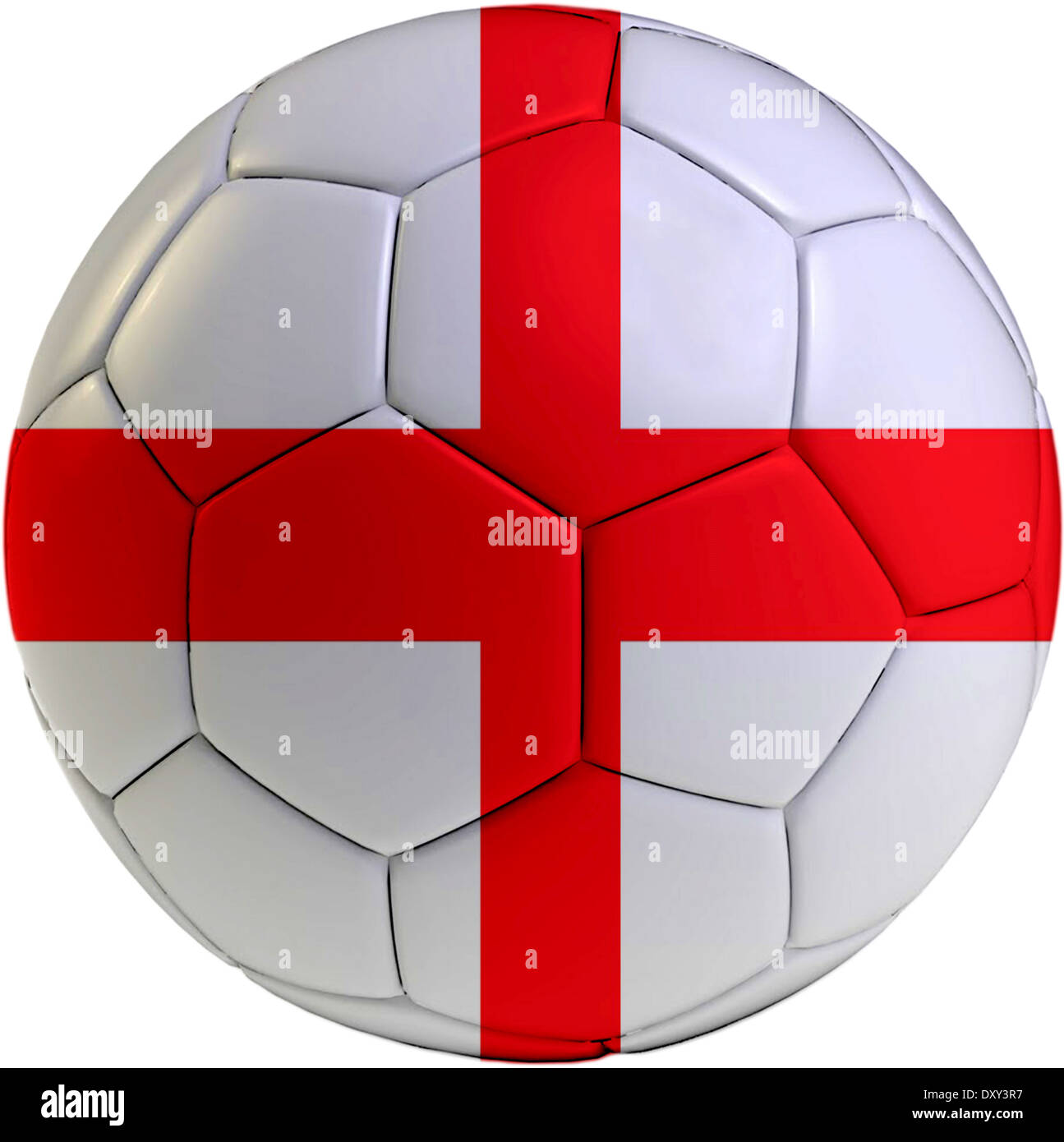 Football ball with England flag isolated on white background Stock Photo