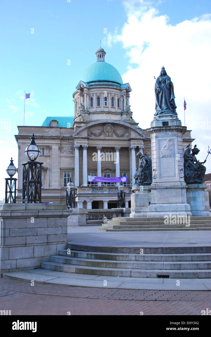 Hull Victoria Square City Hall. - Stock Image