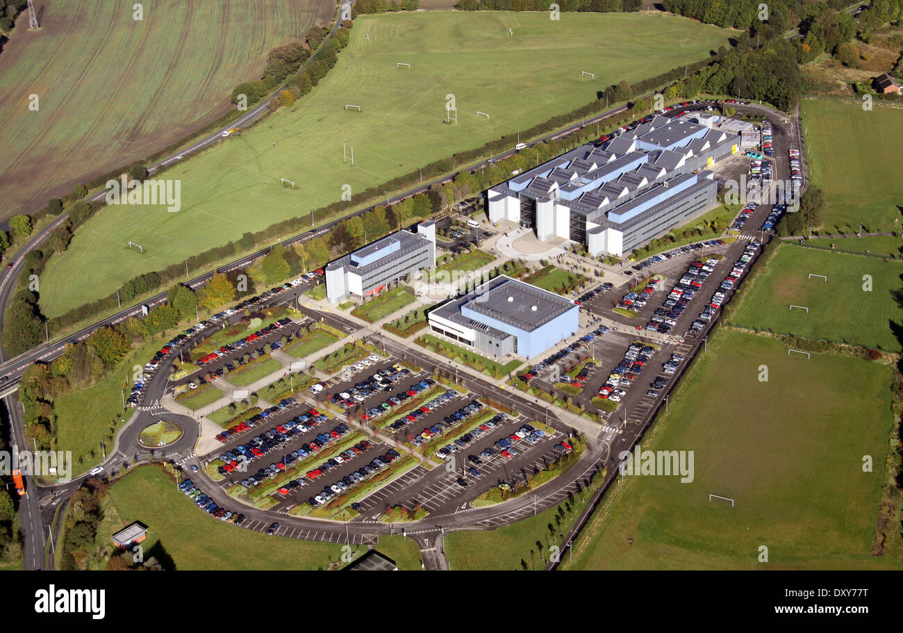 aerial view of the University New College Durham - Stock Image