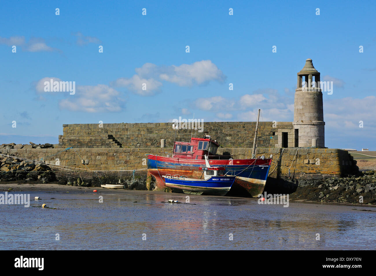 Port Logan Harbour, Port Logan, 'The Rhines' Dumfries and Galloway, Scotland - Stock Image