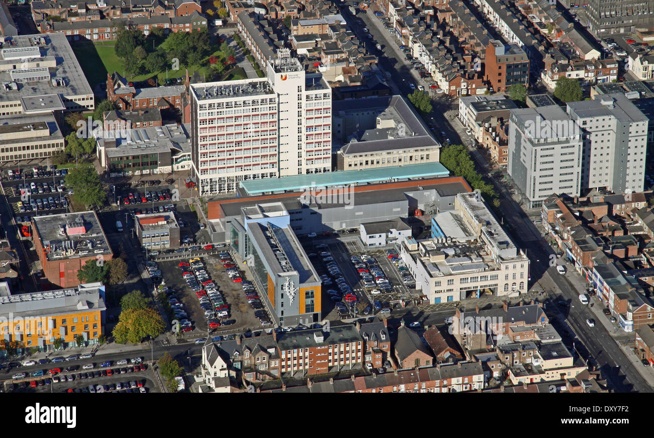 aerial view of Teesside University in Middlesborough - Stock Image