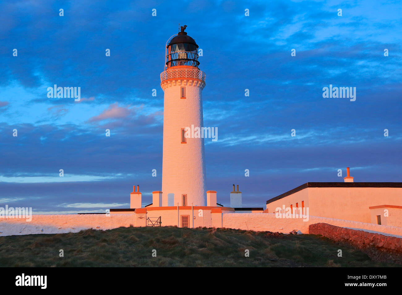 Mull of Galloway Lighthouse. The most Southerly Point in ScotlandThe Rhins,Wigtownshire, Dumfries and Galloway, Scotland - Stock Image