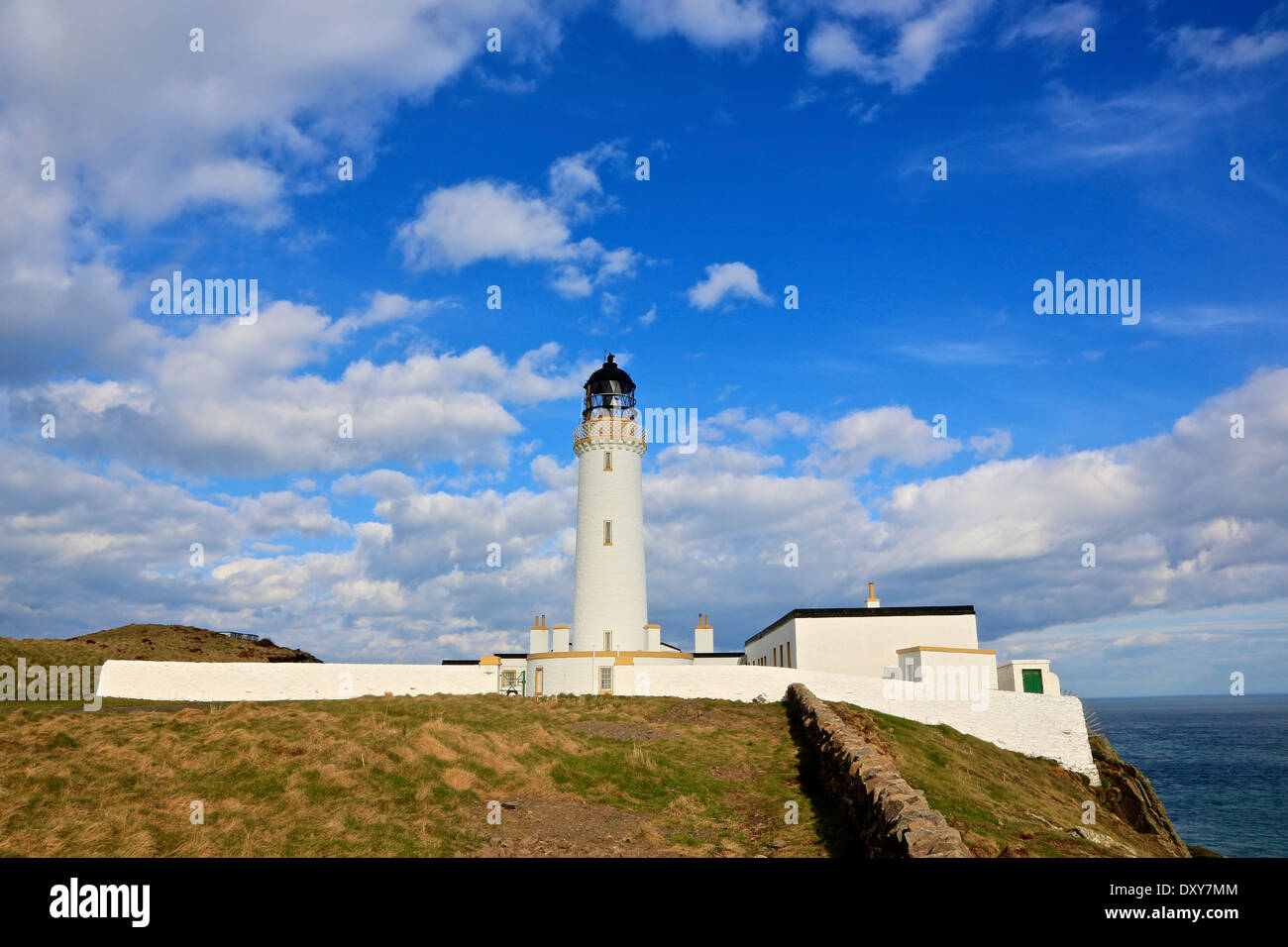 Mull of Galloway Lighthouse. The most Southerly Point in Scotland The Rhins,Wigtownshire, Dumfries and Galloway, Scotland - Stock Image