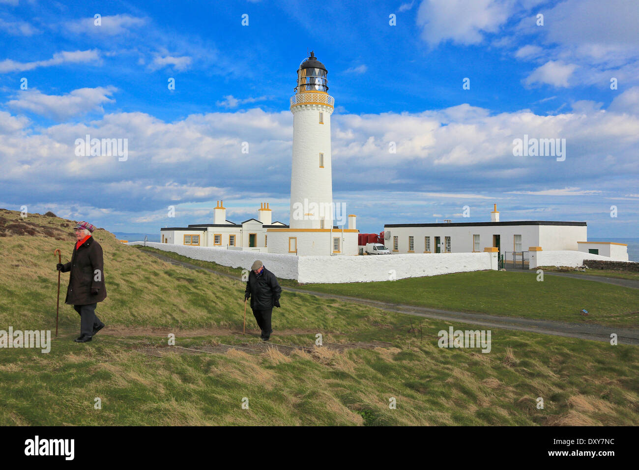 Mull of Galloway Lighthouse. The most Southerly Point in Scotland The Rhins,Wigtownshire, Dumfries and Galloway, Stock Photo