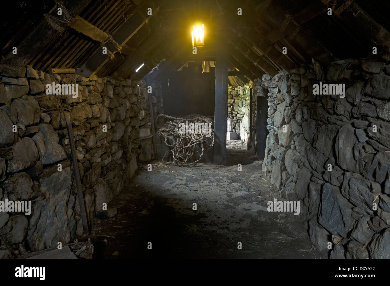 The Barn Inside Blackhouse At Arnol Isle Of Lewis Western Isles Scotland UK