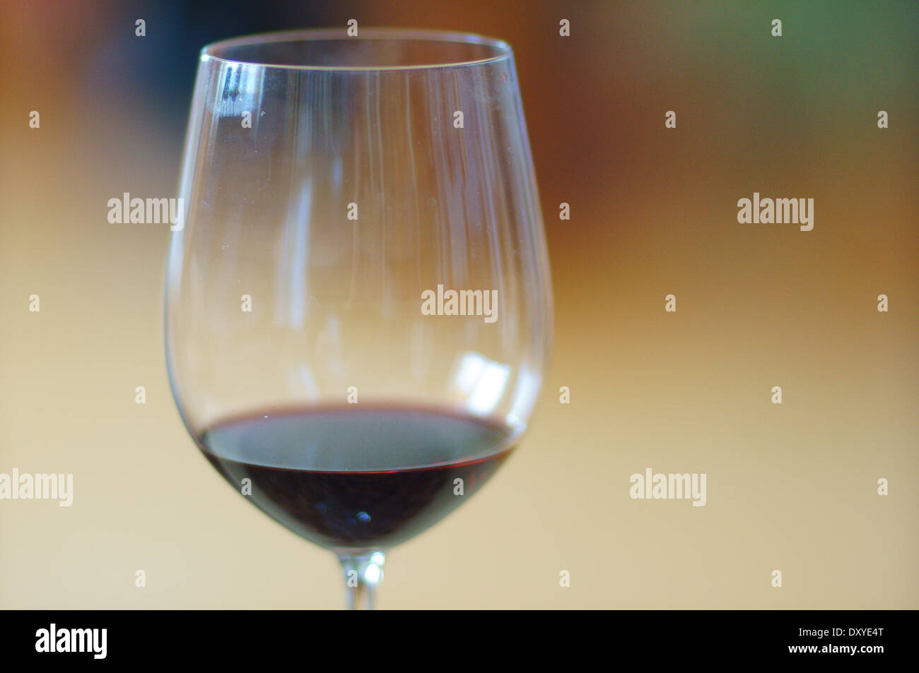 Big cup chalice with some wine - Stock Image