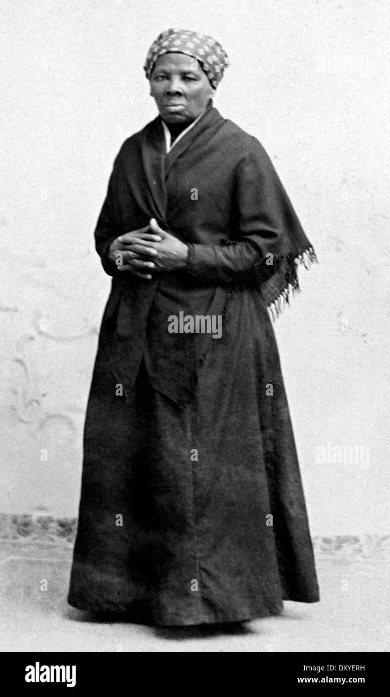 HARRIET TUBMAN (c 1822-1913) Afro-American abolitionist and Union spy - Stock Image