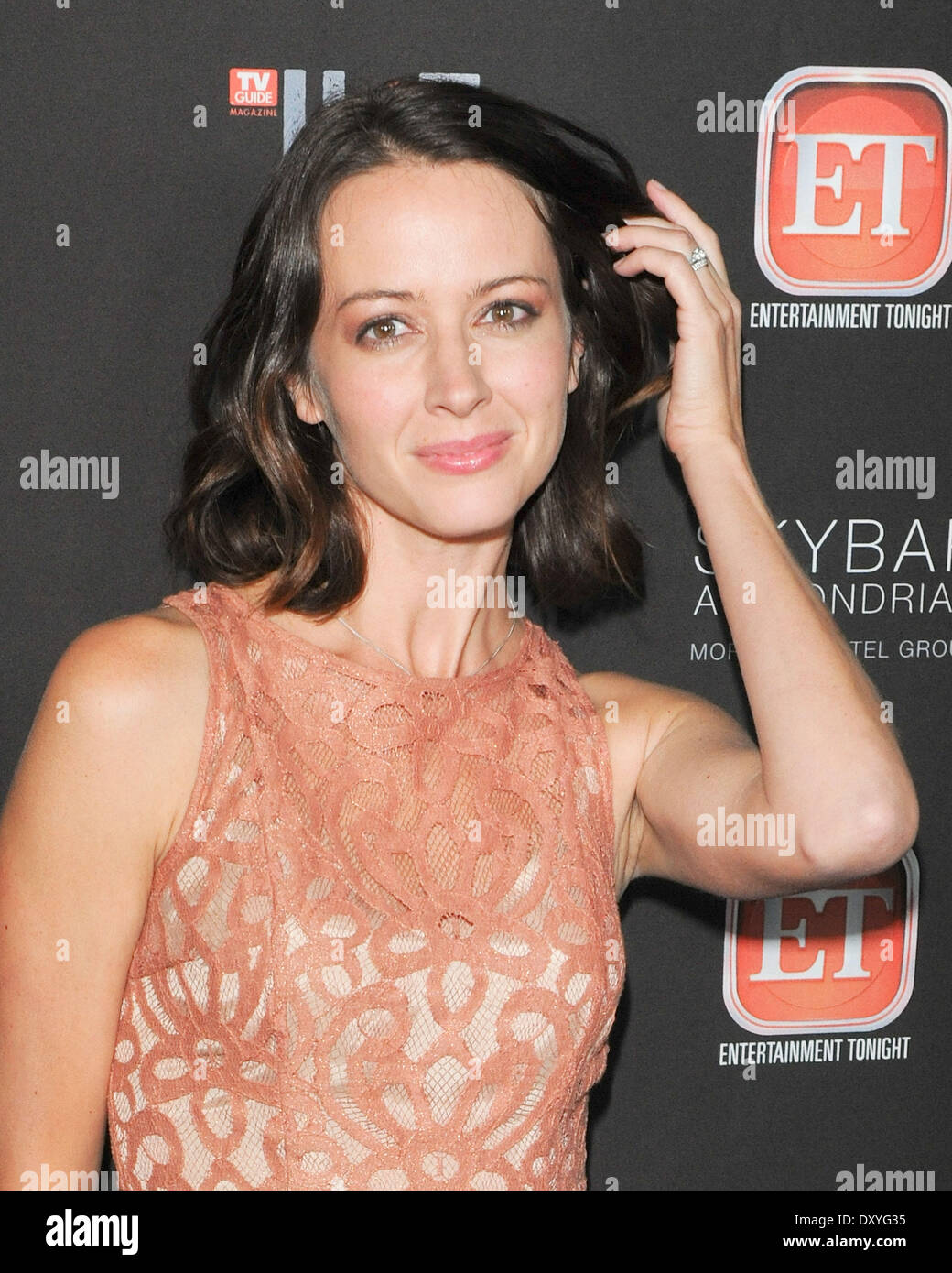 Amy Acker Hot Pics tv guide hot list party held at the mondrian hotel in west