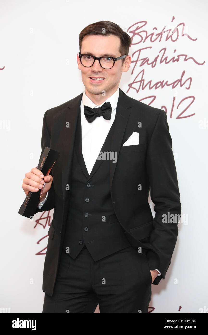 The British Fashion Awards 2012 held at The Savoy - Press Room Featuring: Erdem Moralioglu Where: London United Kingdom When: 27 Nov 2012 - Stock Image