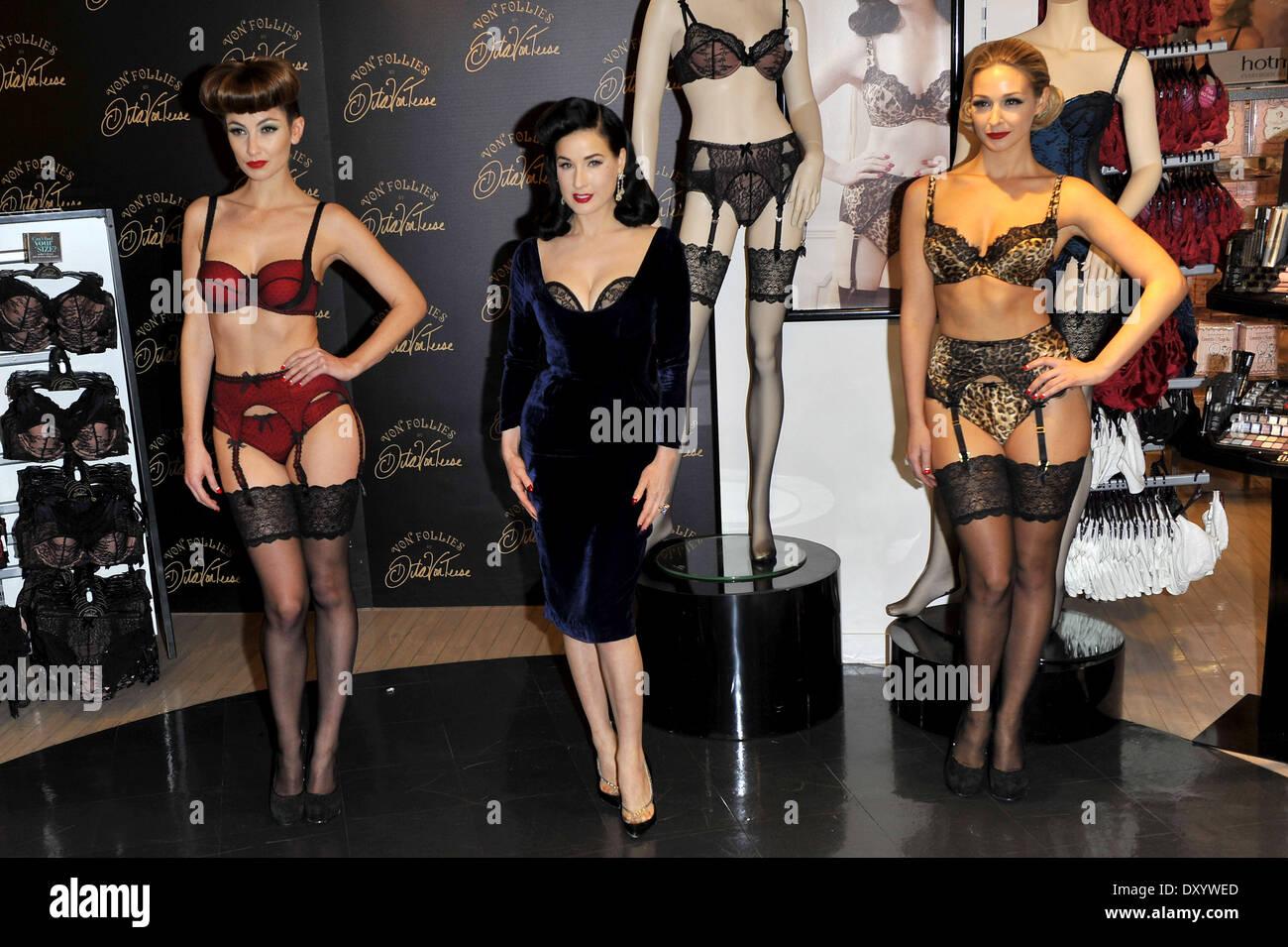 97ff471aa64a Dita Von Teese launches her Von Follies lingerie range at Debenhams  Featuring  Dita Von Teese Where  London United Kingdom When  28 Nov 2012