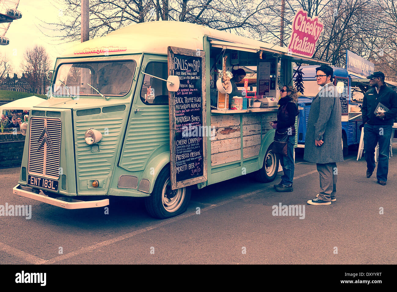 Citroen H Van Food Truck At Classic Car Boot Sale London Uk Stock Photo Alamy