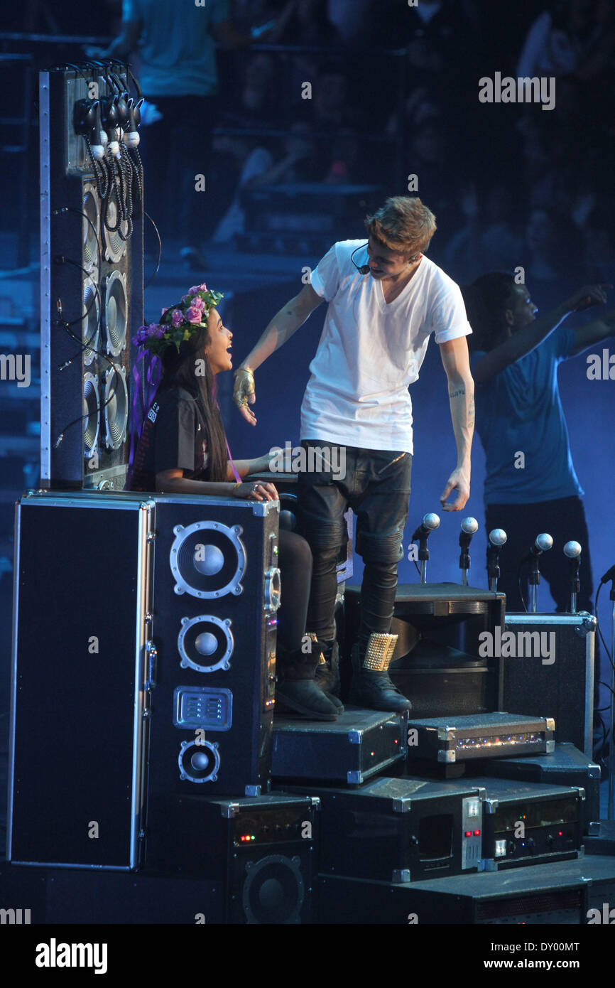 Justin Bieber Concert At Madison Square Gardens With Supporting Acts The  Wanted And Carley Rae Jepsen Featuring: Justin Bieber Where: New York City  NY USA ...