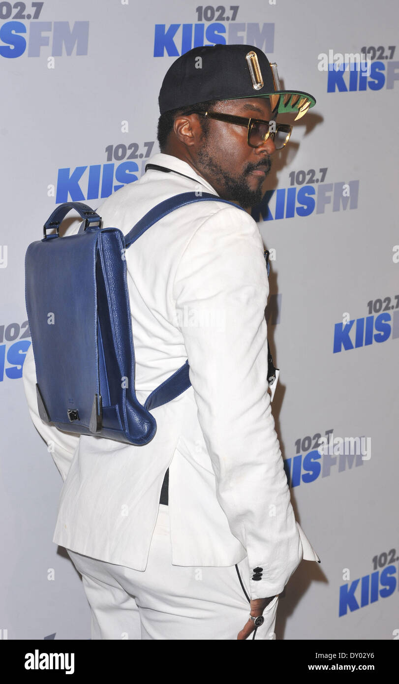 KIIS FM's Jingle Ball 2012 presented by G by Guess at the Nokia Theatre L.A. LIVE - Arrivals Featuring: will.i.am Where: Los Angeles California USA When: 01 Dec 2012.com - Stock Image