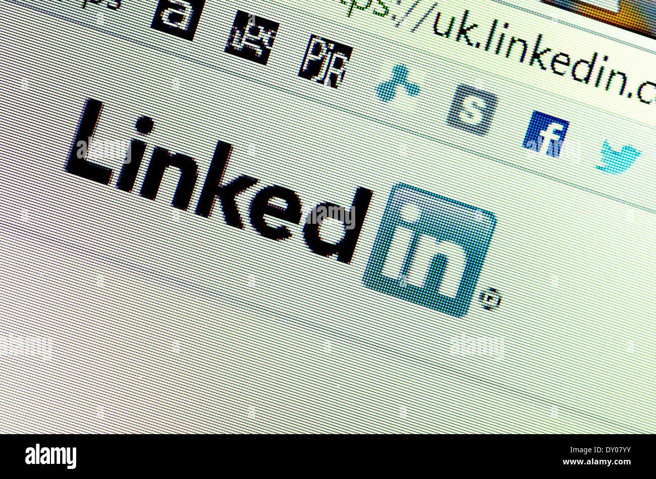 Computer screen shot - Linkedin website - Stock Image