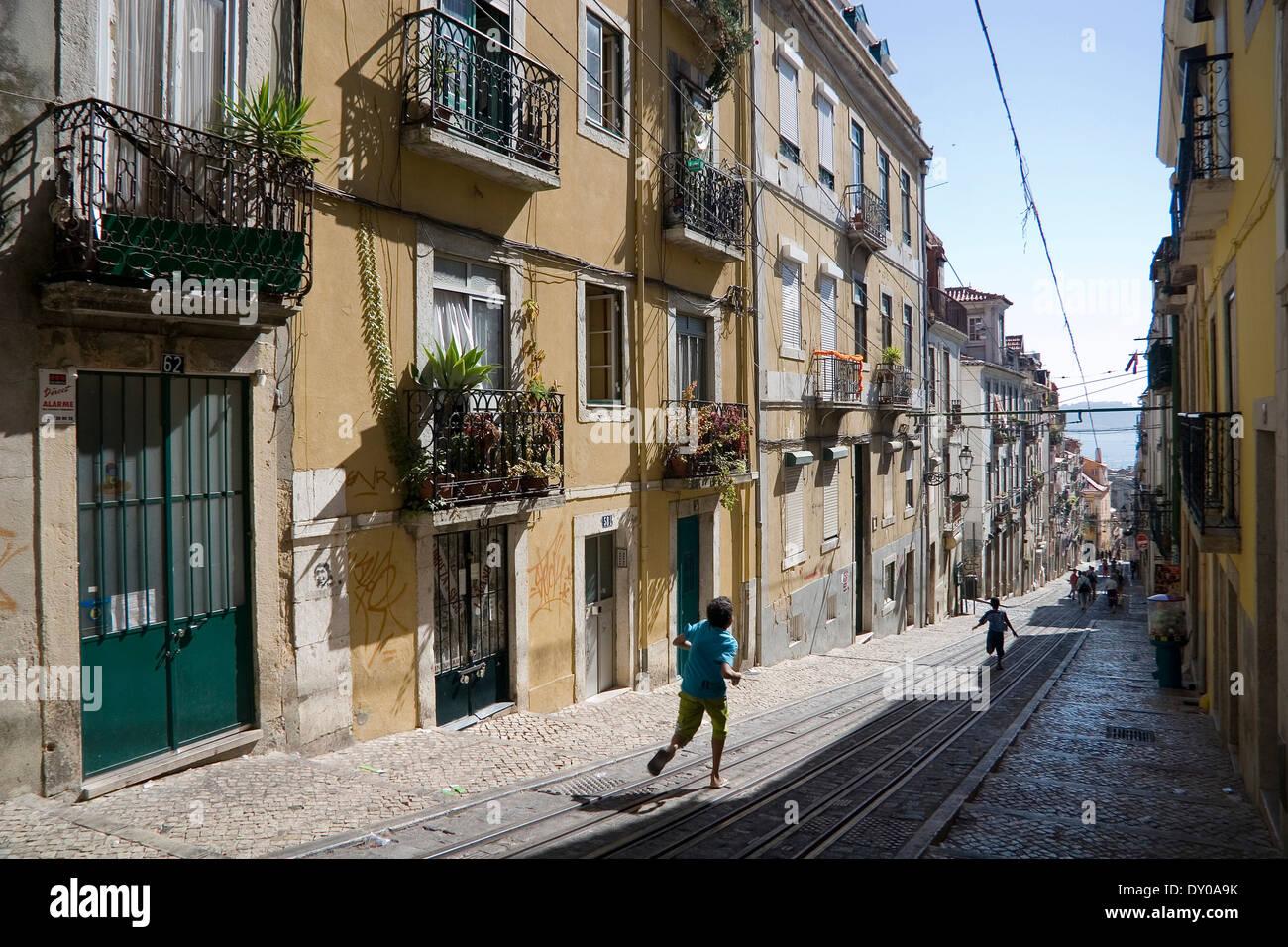 Bica Elevator Street Scene Lisbon Portugal Stock Photo 68234927