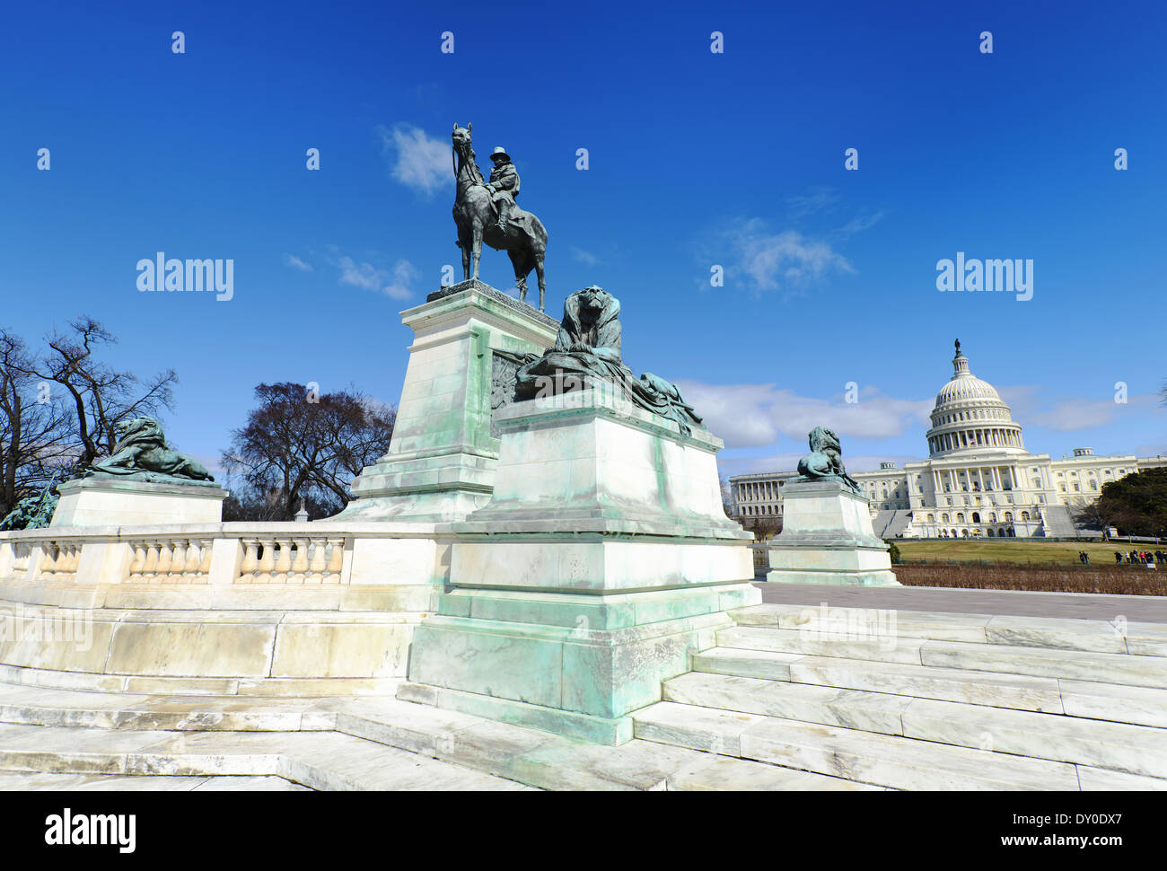 Grant Ulysses S, Memorial west of the U.S. Capitol in Washington, D.C. - Stock Image