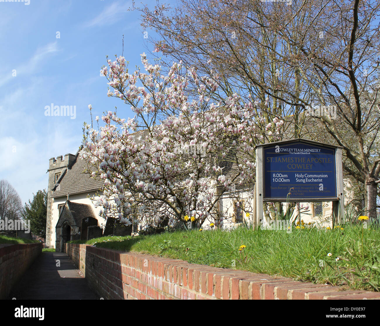 Church of England the Parish Church of Saint James the Apostle, Cowley, Oxford - Stock Image
