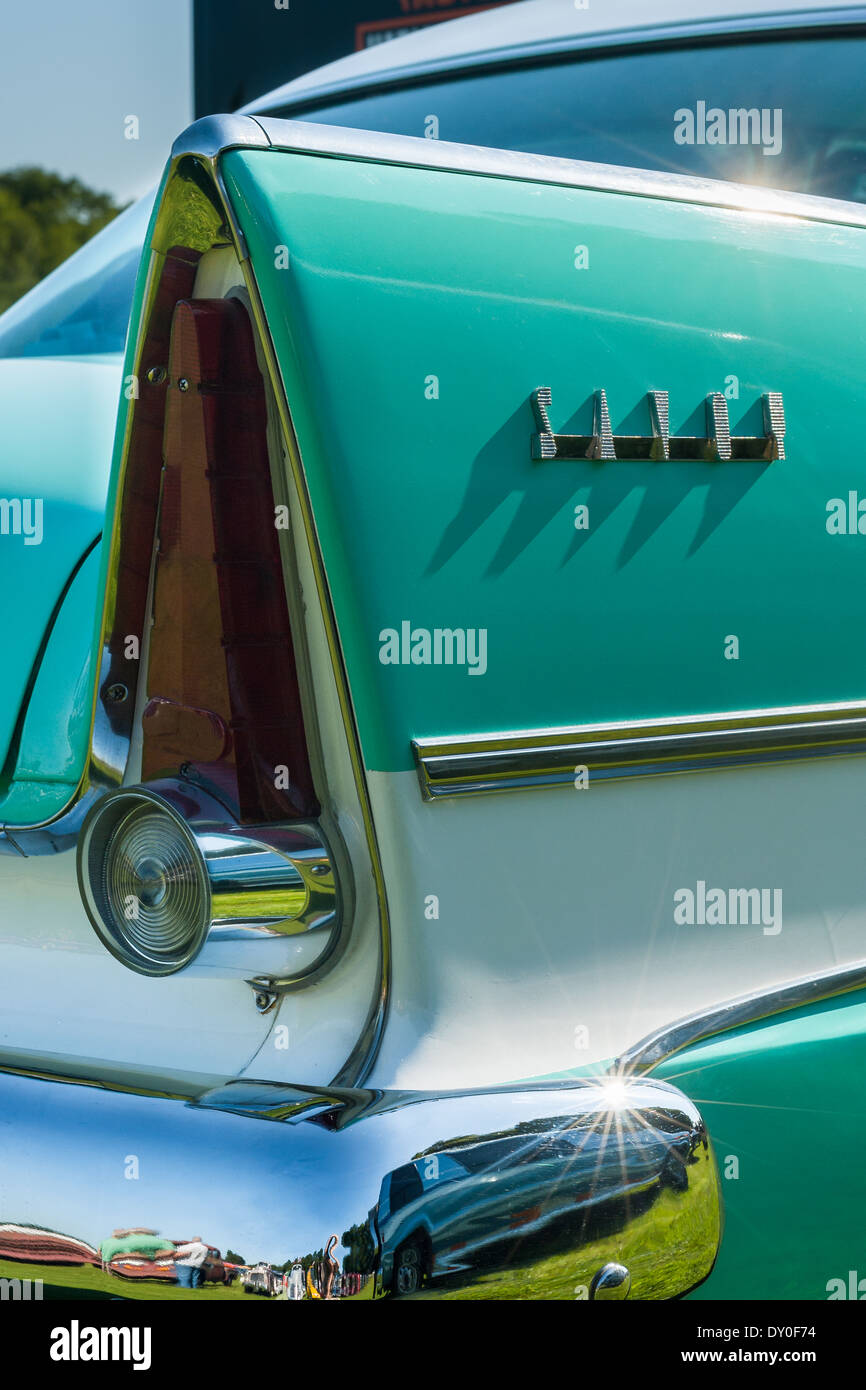 Plymouth Savoy rear wing detail - Stock Image