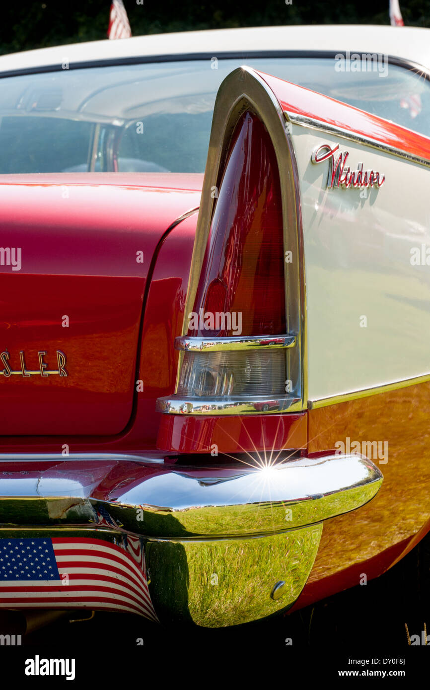 Chrysler Winsor saloon rear wing and tail lights. - Stock Image
