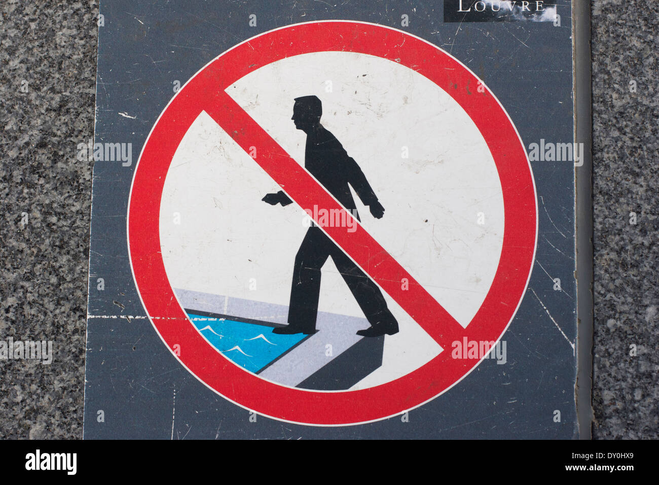 No walking on water Stock Photo