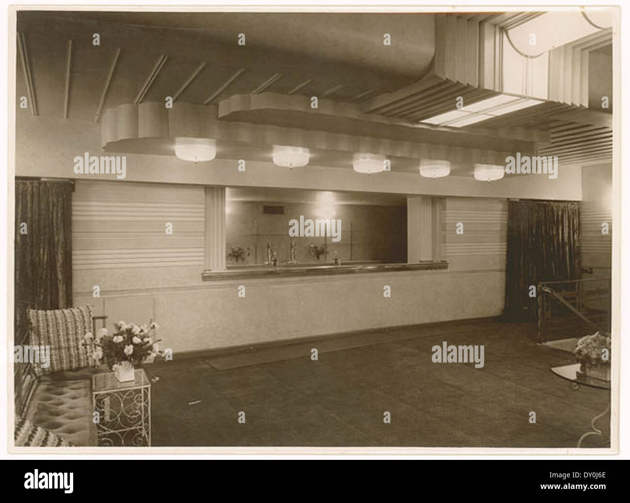 Candy bar in theatre, c  1930s, by Sam Hood Stock Photo