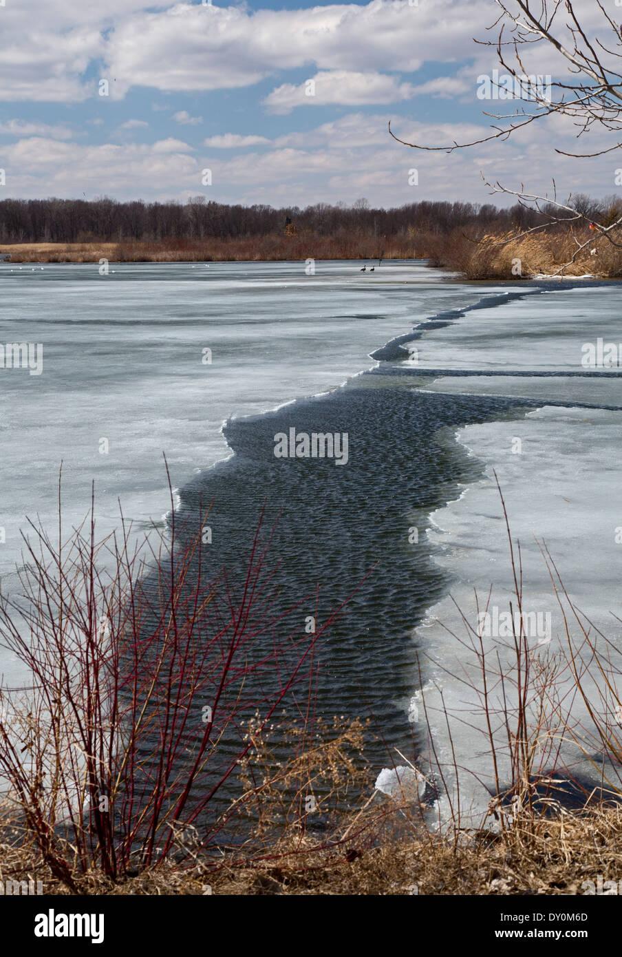 Crosswinds Marsh - Stock Image