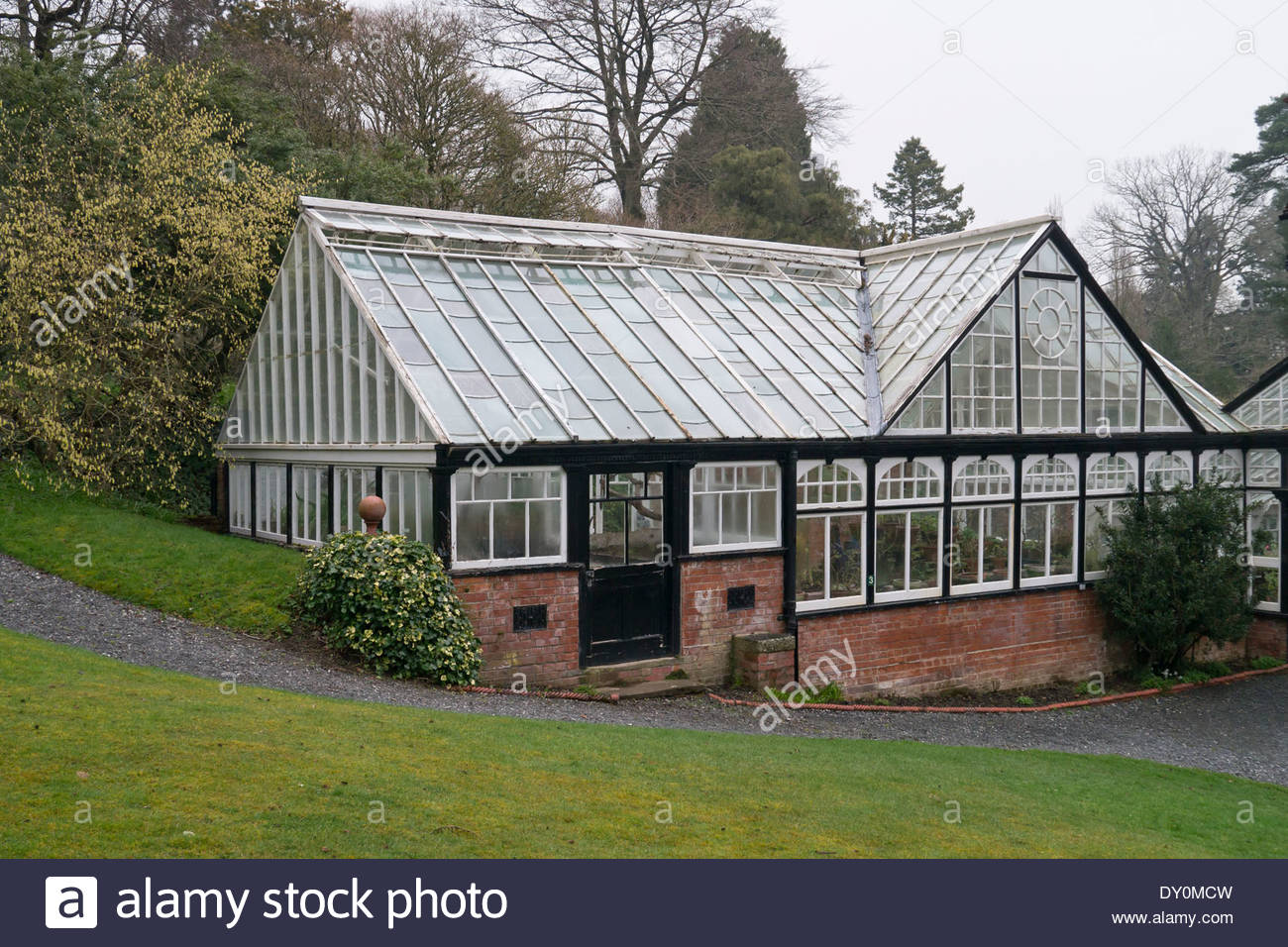 The greenhouse at Hergest Croft Gardens: Kington, Herefordshire, England. - Stock Image