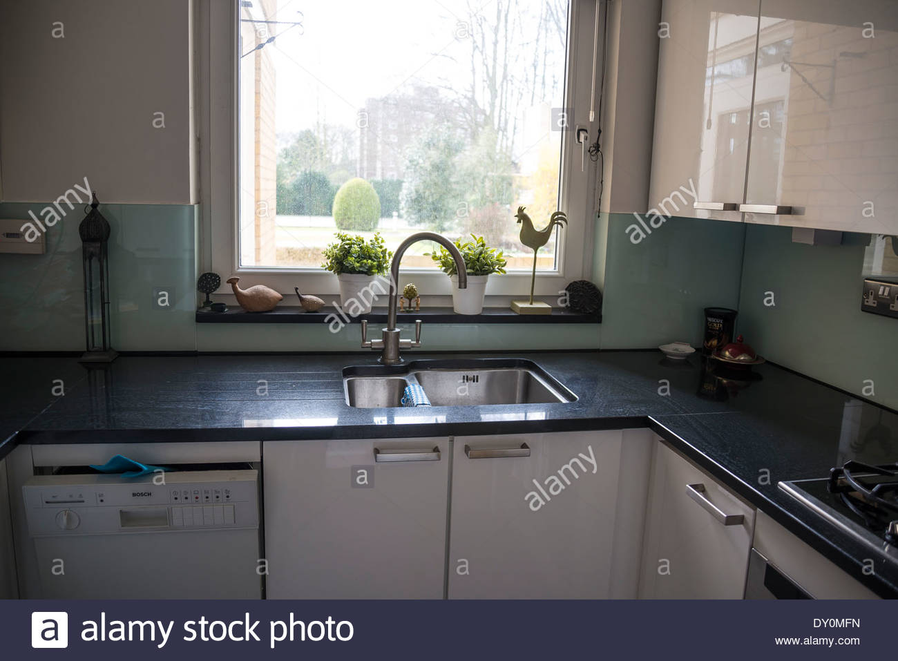 Kitchen sink and window Stock Photo: 68242937 - Alamy